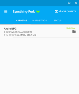 Syncthing para Android, para sincronizar archivos localmente